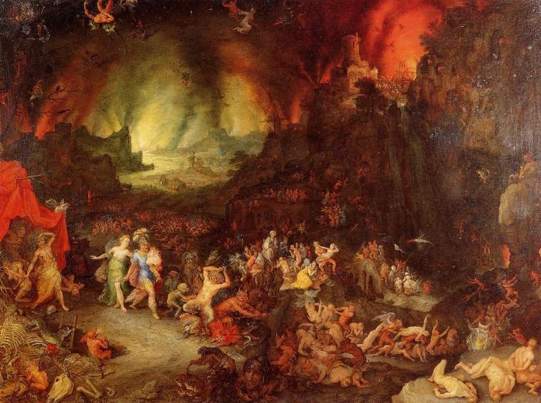 Aebaes and the Sybil in Hades by Jan Brueghelil Vecchio